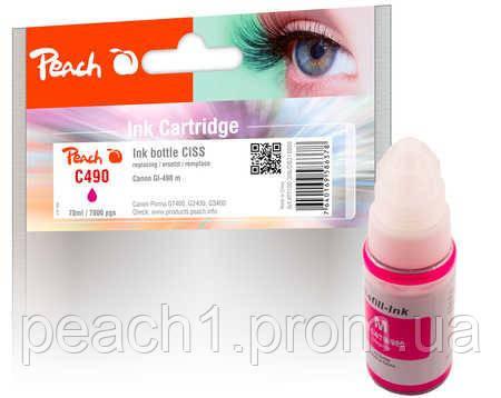 Чернила розовый (Пурпурный/Magenta) Canon GI 490 (СНПЧ)