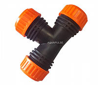 """Муфта соединительная для шлага тройник 1/2""""-5/8"""", 12.5-15 мм Standart Aquapulse"""