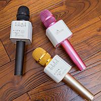 Беспроводной микрофон Q9 портативный караоке микрофон с динамиком  и чехлом, Bluetooth Microphone