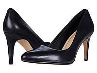 Туфли на каблуке (Оригинал) Clarks Laina Rae Black Leather