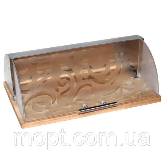Эко Хлебница Kamille (Польша) для сохранения свежести и вкуса  хлеба выпечки сдобы Бамбук Сталь