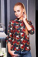 Роза красная блуза Тамила1 д/р glam