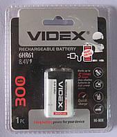Аккумулятор Videx 6HR61 300 mAh (крона)