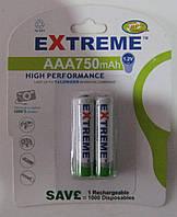 Аккумуляторы Extreme AAA 750 mAh (мизинец)