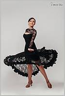 Тренировочная юбка для танцев стандарт «Бурлеск»