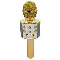 Беспроводной Bluetooth микрофон для караоке KTV-858 Gold