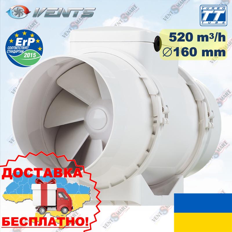 Вентилятор ВЕНТС ТТ 160 на круглый канал (VENTS TT 160)