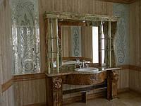 Столешница для ванной комнатыиз оникса