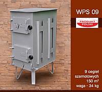 Печка буржуйка стальная ― WPS09 9 шамотных кирпичей