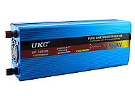 Преобразователь напряжения инвертор UKC SP 1200W 12V-220V с чистой синусоидой Blue