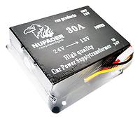 Автомобильный преобразователь напряжения Nupaoer 24В в 12В 30A Black