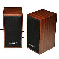 Компьютерные деревянные колонки акустика Music-F D09