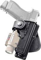 Кобура Fobus для Glock-19/23 с подствольным фонарем, поясной фиксатор цвет:black (EM19), фото 1