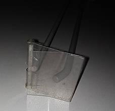 Крючок торговый одинарный на сетку с ценникодержателем 350мм  Серые, фото 2