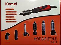 Фен стайлер для волос Kemei KM-584 6в1