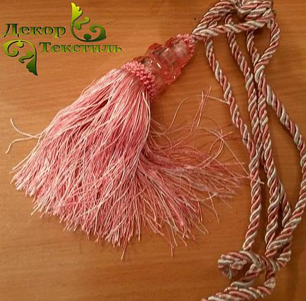 Кисти для штор №6 розовые , подхваты (2шт), фото 2