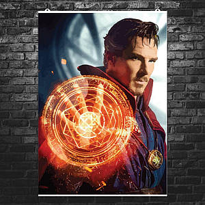 """Постер """"Доктор Стрэндж, стилизация"""". Dr.Strange, Камбербэтч. Размер 60x42см (A2). Глянцевая бумага"""