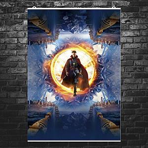"Постер ""Доктор Стрэндж выходит из портала"", Doctor Strange, Камбербэтч. Размер 60x42см (A2). Глянцевая бумага"
