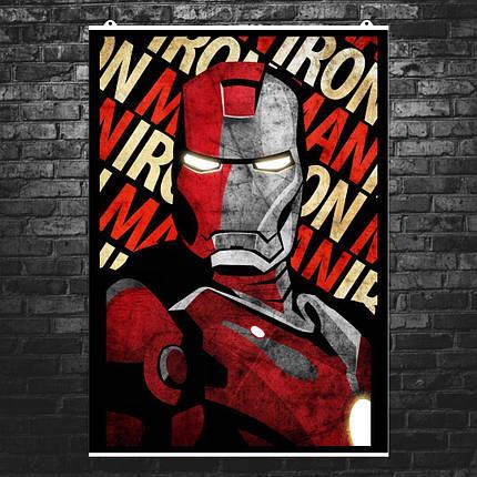 """Постер """"Iron Man, минималистичный арт"""". Железный Человек, Marvel. Размер 60x42см (A2). Глянцевая бумага, фото 2"""