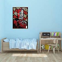 """Постер """"Iron Man, минималистичный арт"""". Железный Человек, Marvel. Размер 60x42см (A2). Глянцевая бумага, фото 3"""