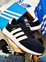 Мужские кроссовки Adidas iniki / blue (р. 43 и 44) Синие, фото 1