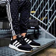 Мужские кроссовки Adidas iniki (р. 40 42 43 44 45) Черные, фото 1