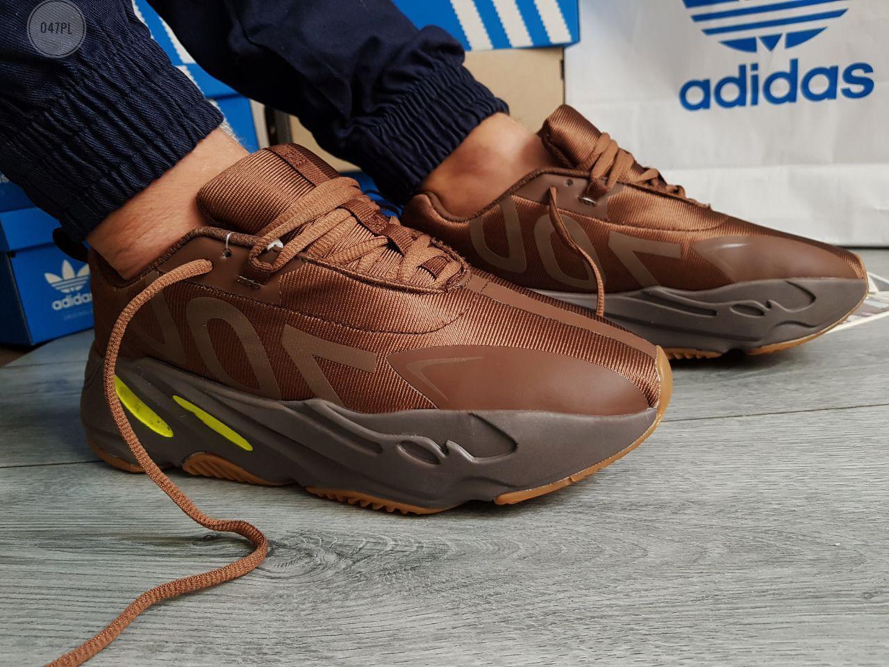 Мужские кроссовки Adidas Yeezy Boost 700 Brown (р. 42 44 45) коричневые