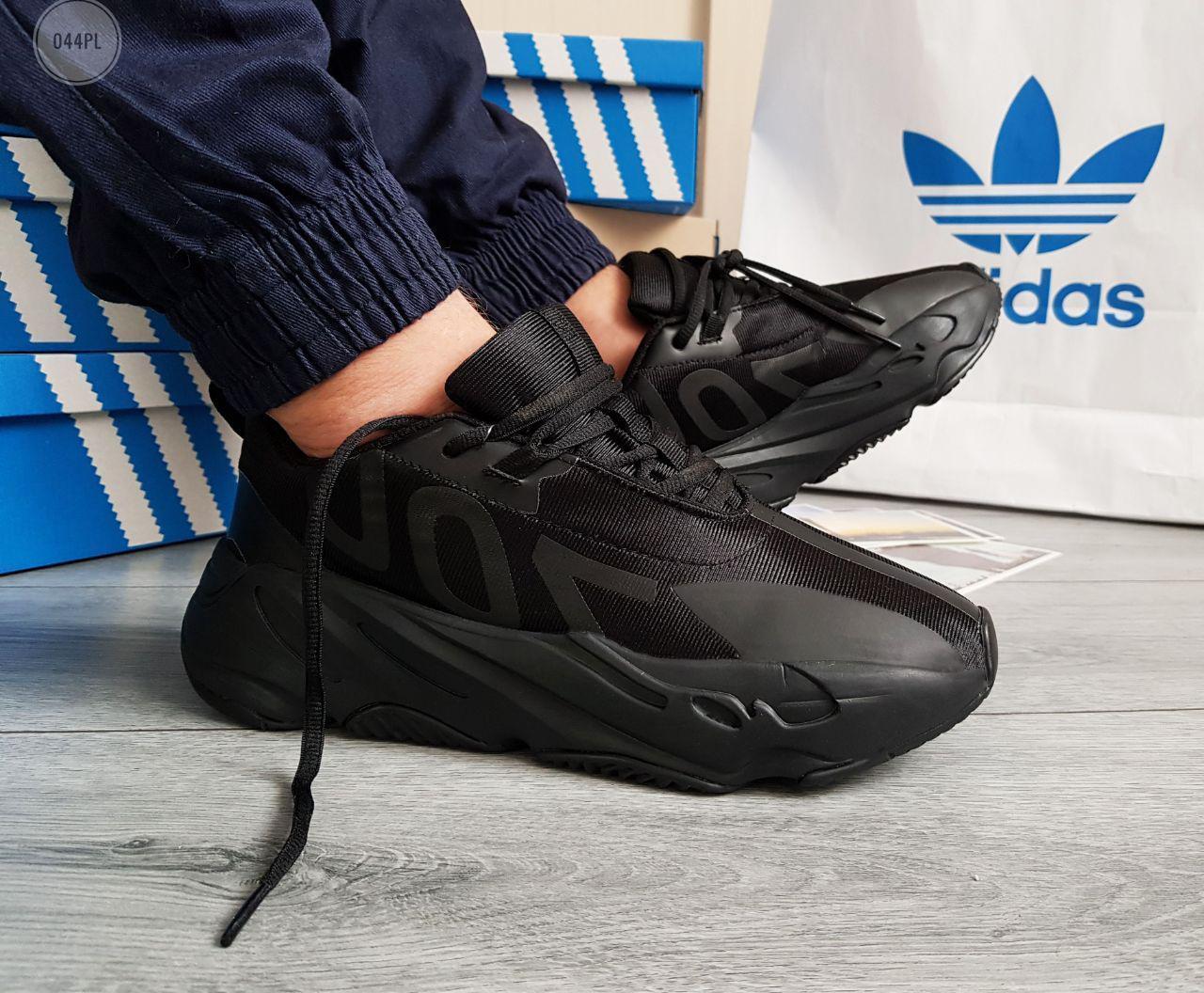 Мужские кроссовки Adidas Yeezy Boost 700 Black (р. 41 42 43 44 45) черные