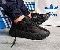 Мужские кроссовки Adidas Yeezy Boost 700 Black (р. 41 42 43 44 45) черные, фото 1