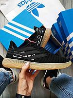 Мужские кроссовки Adidas Sobakov Gum (Только 41р.) Черные, фото 1