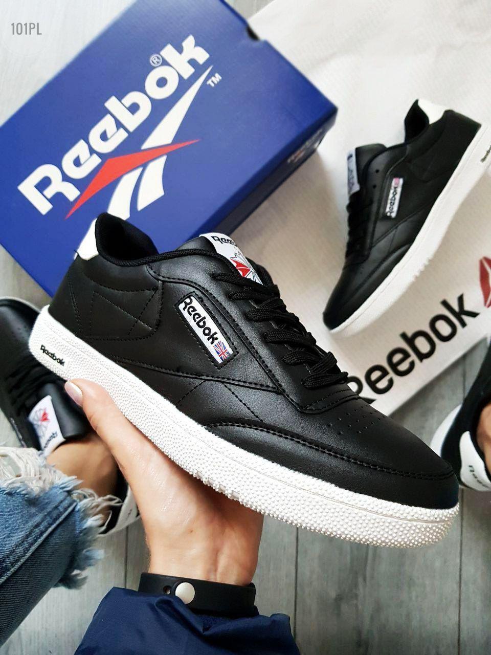 Мужские кроссовки Reebok Classiс (р. 42,43) Черные