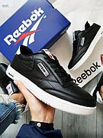 Мужские кроссовки Reebok Classiс (р. 42,43) Черные, фото 1