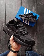 Мужские кроссовки Adidas Nite Jogger (р. 42,43) Черные, фото 1