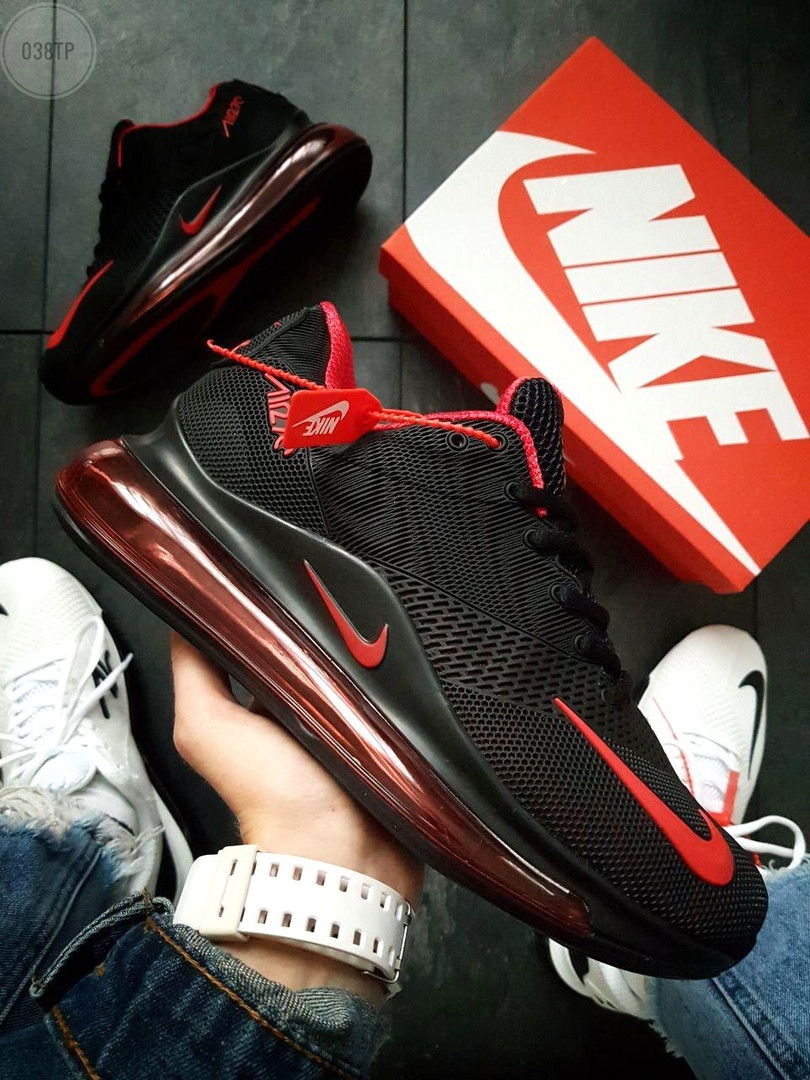 Мужские кроссовки Nike Air 270 Kauchuk Black/Red ( р. 41 и 44 ) Черные