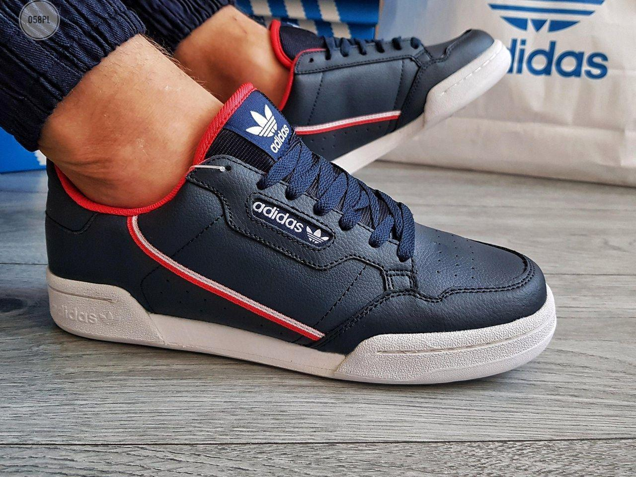 Мужские кроссовки Adidas CONTINENTAL 80(р. 42,43,46) Синие