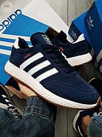 Мужские кроссовки Adidas iniki blue, фото 1