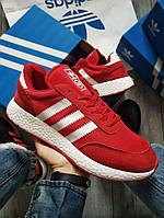 Мужские кроссовки Adidas iniki Red (р. 42 и 44) Красные, фото 1