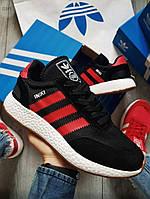 Мужские кроссовки Adidas iniki Black/Red (р. 40,41,42,43,44,45) Черные, фото 1
