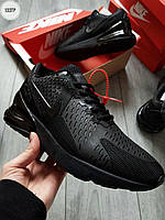 Мужские кроссовки Nike Air Max 270 Cauchuk Flair Total Black Черные, фото 1