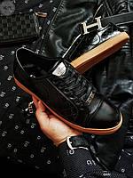 Мужская фирменная обувь Gucci (р. 39, 41,42,44) Черные, фото 1