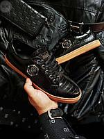 Мужская фирменная обувь Philipp Plein (р. 40,41,42) Черные