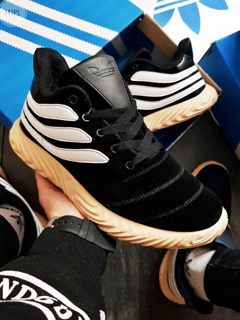 Мужские зимние кроссовки Adidas Sobakov Winter Black (р. 40,41,42) Черные