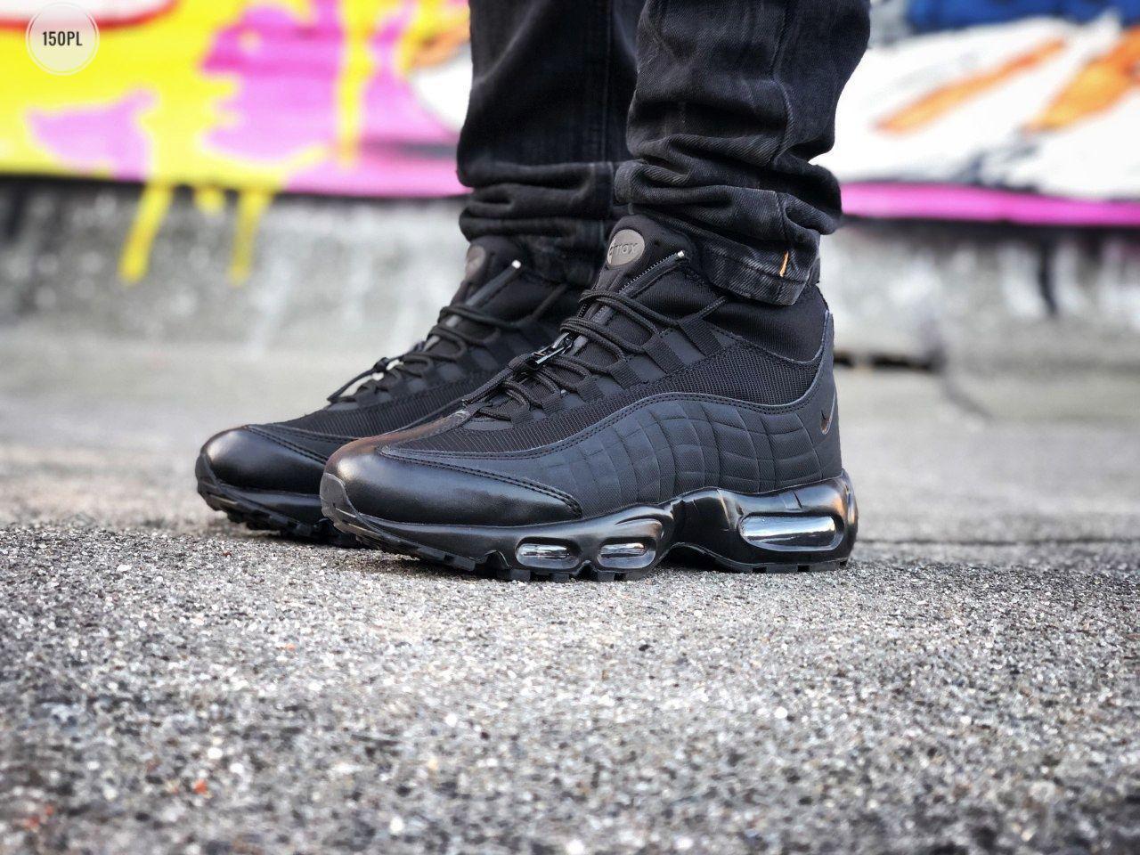 Мужские кроссовки Nike Air Max 95 Sneakerboot Black (р. 41, 43, 44) Черные