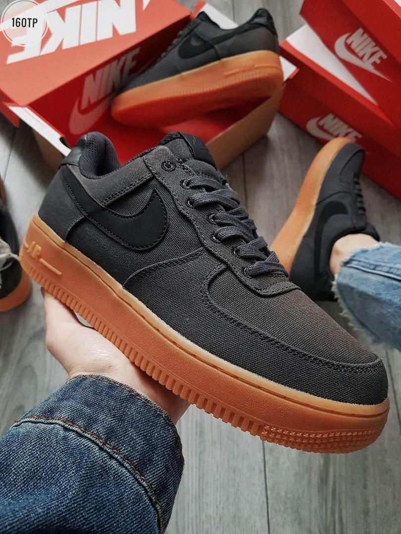 Мужские кроссовки Nike Air Force 1 '07 LV8 STYLE BLACK/GUM (р. 42, 44) Черные