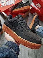 Мужские кроссовки Nike Air Force 1 '07 LV8 STYLE BLACK/GUM (р. 42, 44) Черные, фото 1