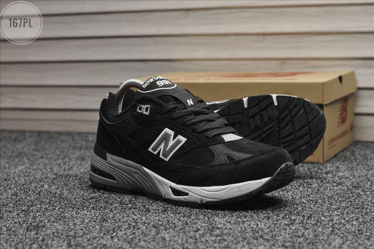Мужские кроссовки New Balance 991 Black (р. 42 и 44) Черные