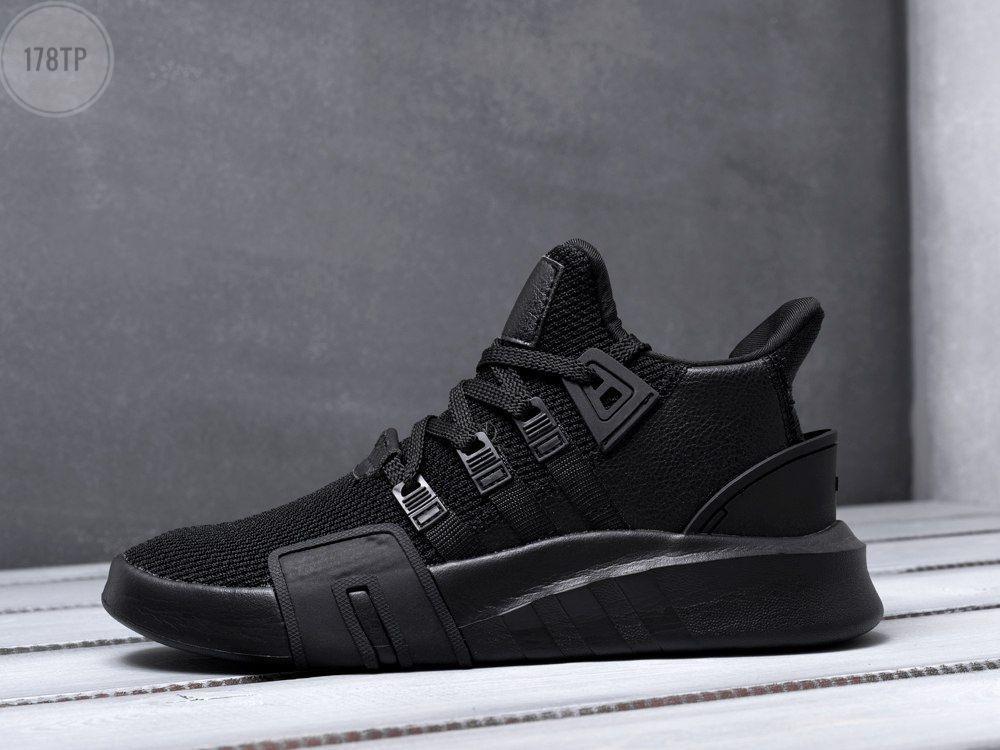 Мужские кроссовки Adidas EQT Basketball ADV Total black ( 40,41,42,43,44,45 ) Черные