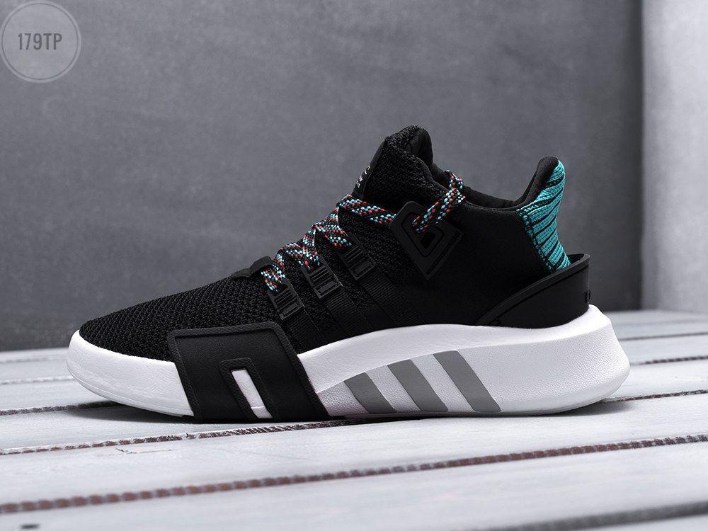 Мужские кроссовки Adidas EQT Basketball ADV Black/Green (р. 41,42,44) Черные