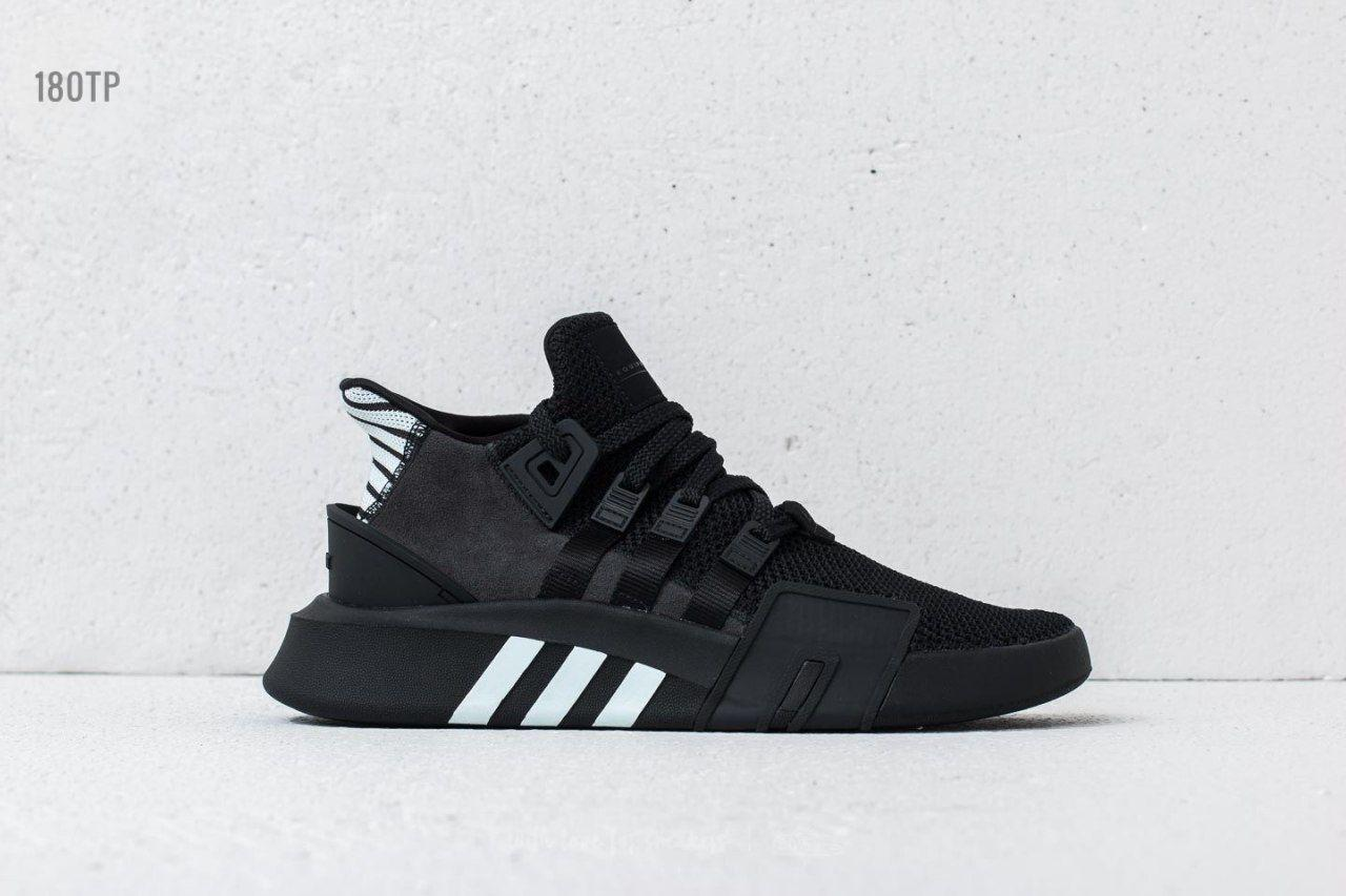 Мужские кроссовки Adidas EQT Basketball ADV Black/White (р. 44) Черные