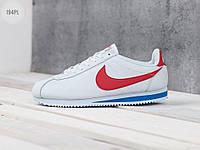 Мужские кроссовки Nike Cоrtez Classic Leather White/Red (р. 44 45 46) Белые, фото 1